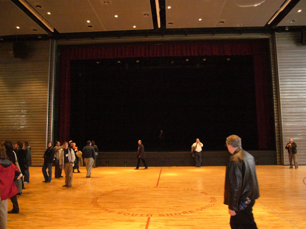 stage in auditorium